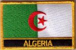 Algeria Embroidered Flag Patch, style 09.